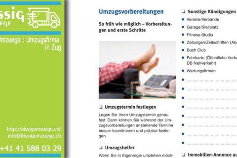 Der Leitfaden | Bissig Umzuege – Umzugsfirma in Zug über Umzugshilfenprämien