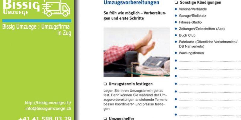 Der Leitfaden | Bissig Umzuege - Umzugsfirma in Zug über Umzugshilfenprämien