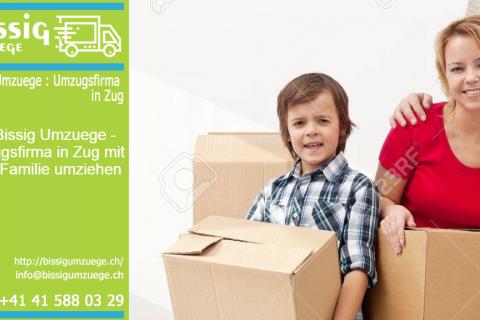 Mit Bissig Umzuege – Umzugsfirma in Zug mit Ihrer Familie umziehen